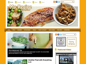 MyRecipe premium WordPress theme