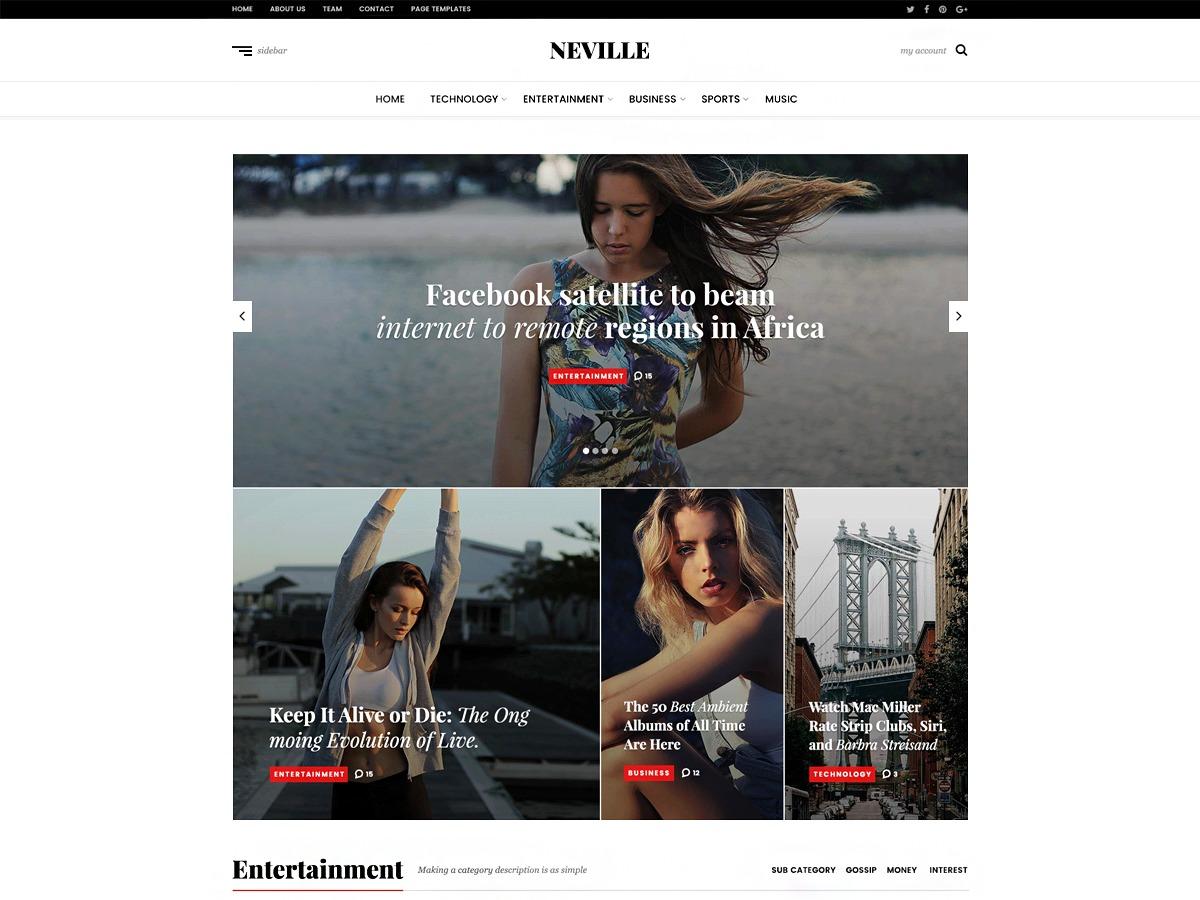 Neville WordPress news theme