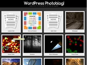 Photographic WordPress blog template