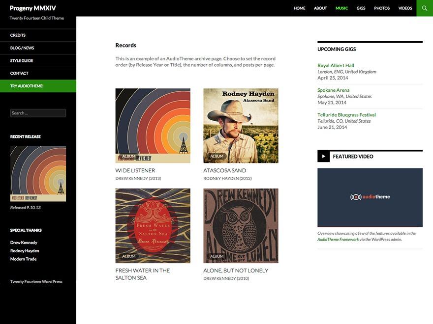Progeny MMXIV best free WordPress theme