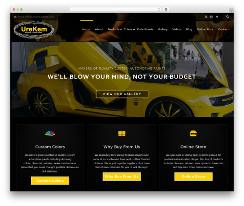 Reznor automotive WordPress theme - urekem-paints.com