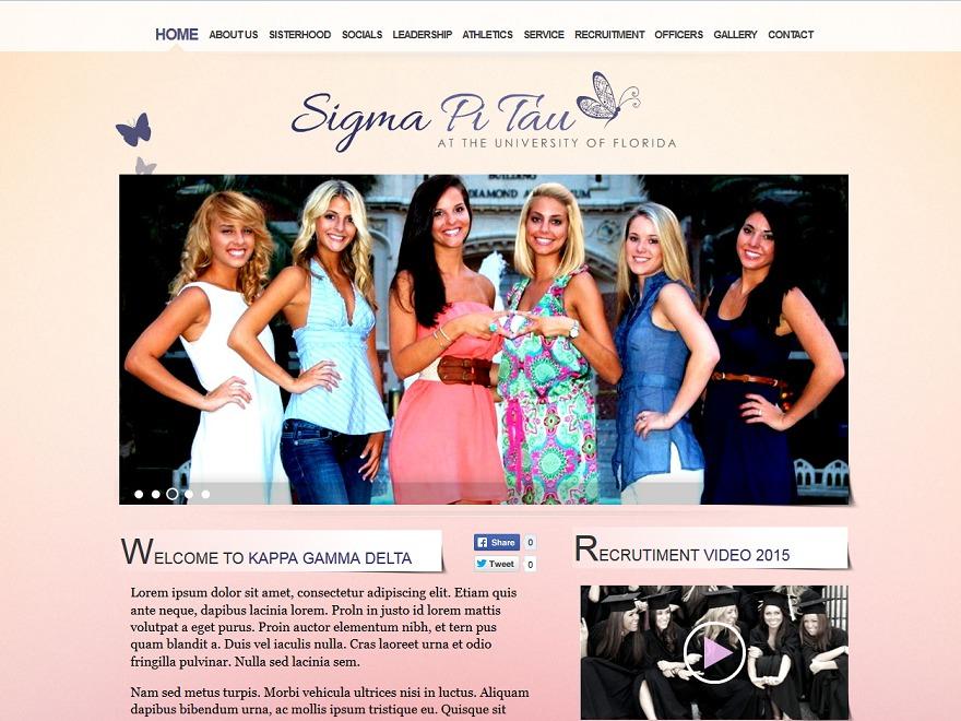 SigmaPhiTau premium WordPress theme