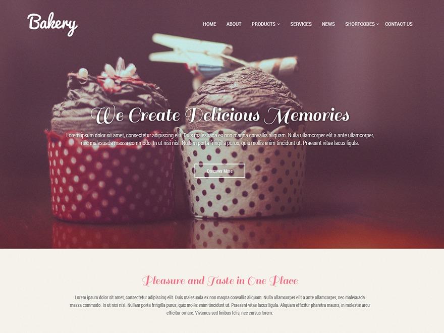 SKT Bakery Pro WordPress portfolio theme
