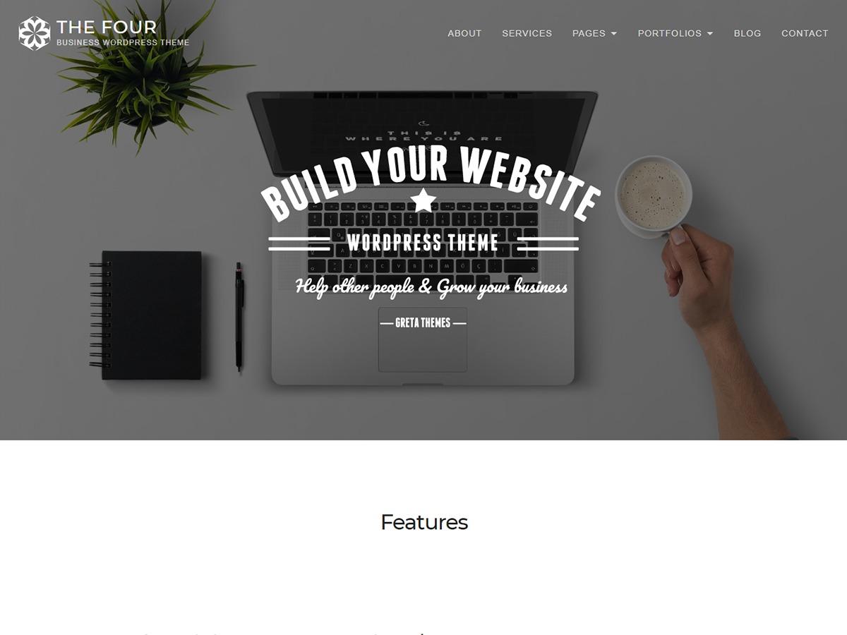 TheFour Lite free WordPress theme