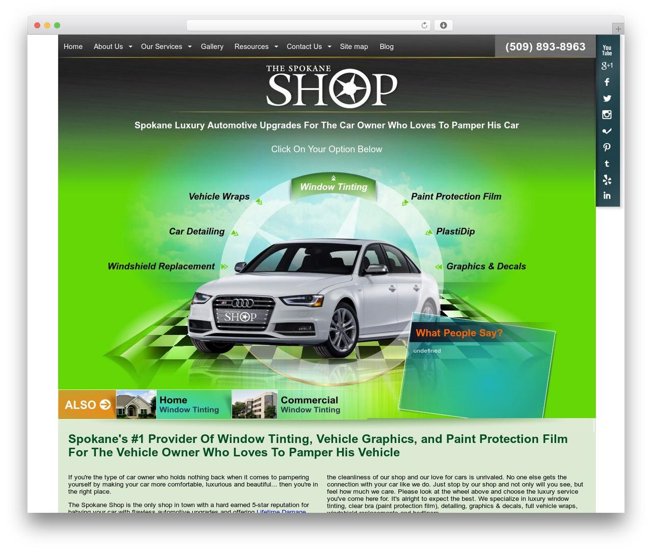 TheSpokaneShop 2.0 WordPress ecommerce template - thespokaneshop.com
