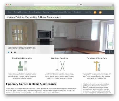 WordPress template Almasi - upkeep.ie