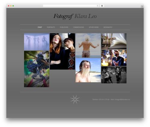 WordPress theme Elegant Photography Theme - wp.klaraleo.se