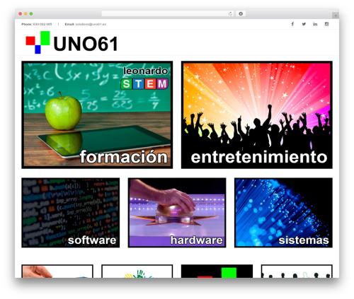 WordPress theme Inspira - uno61.es