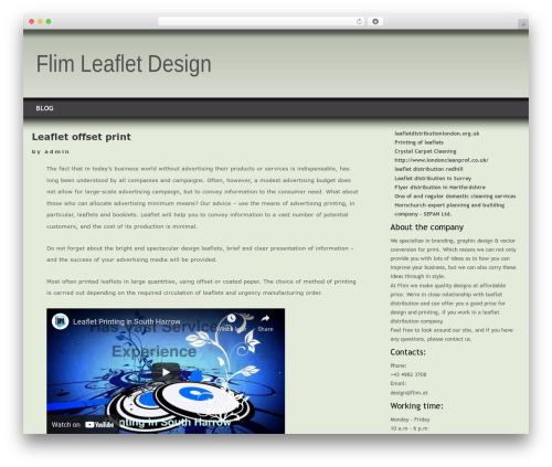 WordPress theme Layers - flim.at