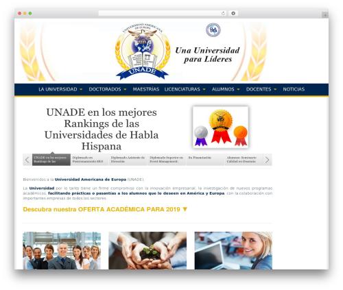 WordPress website template Campus - unade.mx