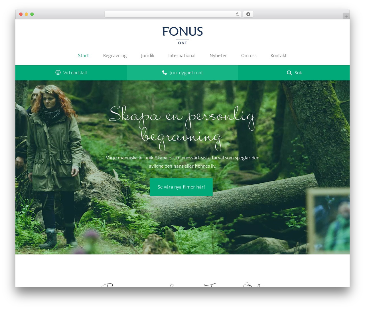WordPress website template Jupiter - fonusost.se