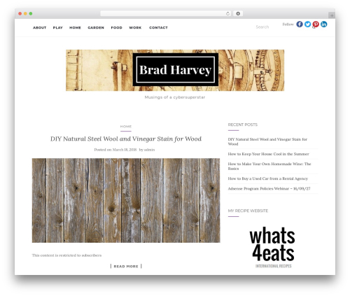 Activello WordPress theme - brad-harvey.com