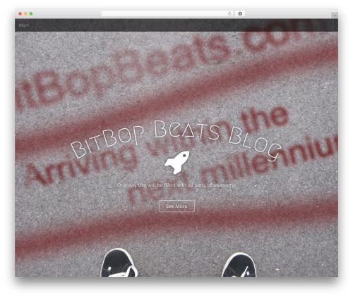 Arcade Basic WordPress template - bitbopbeats.com