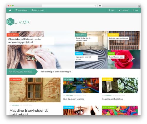 Best WordPress theme Codilight - boliv.dk