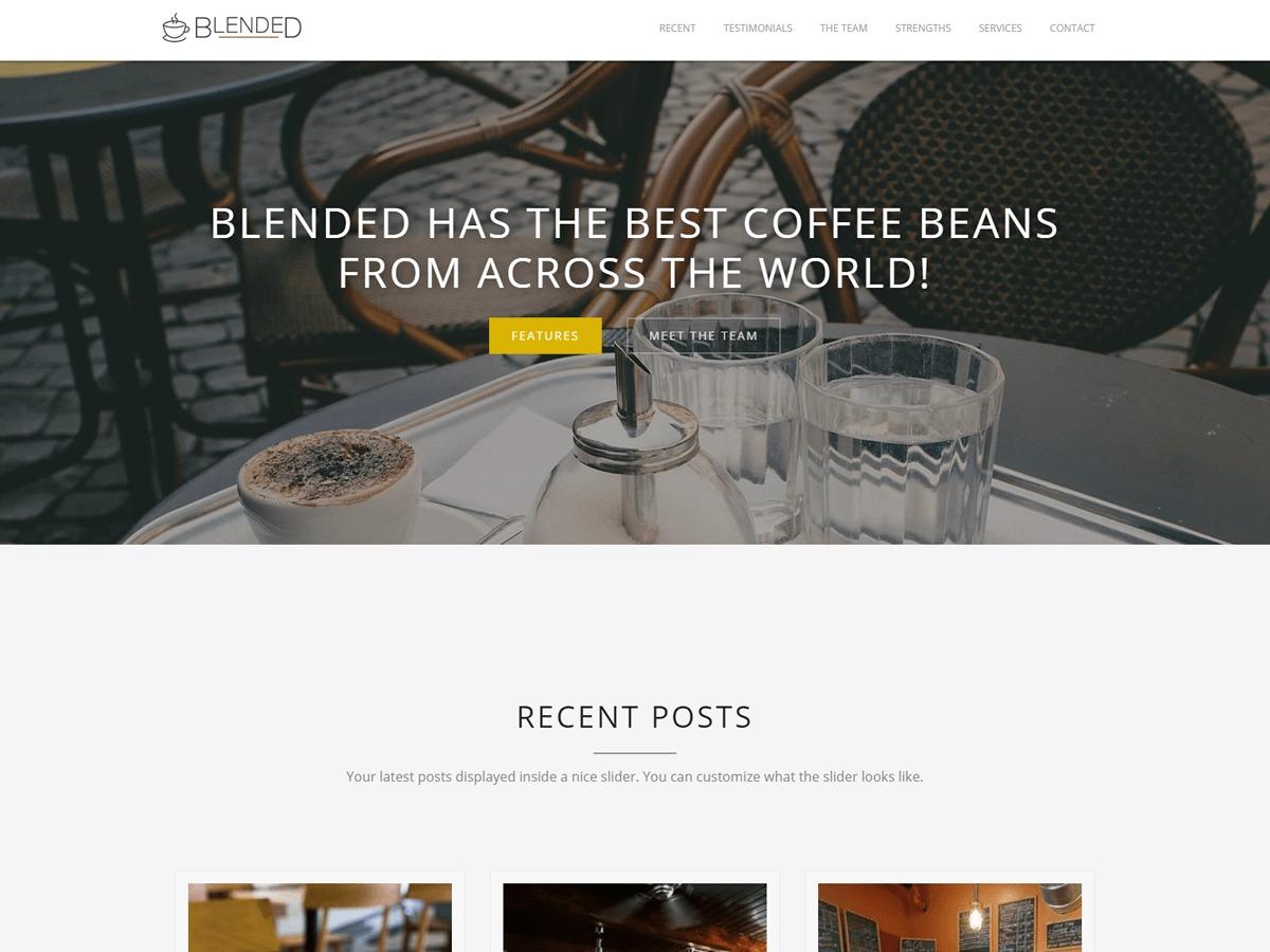 Blended company WordPress theme