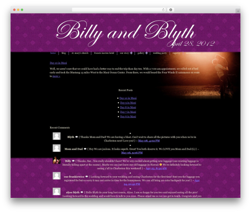 Blissful-Blog WordPress wedding theme - billyandblyth.com
