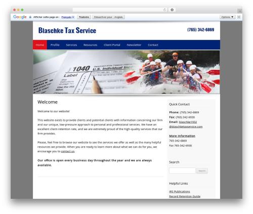 Customized WordPress theme - blaschketaxservice.com