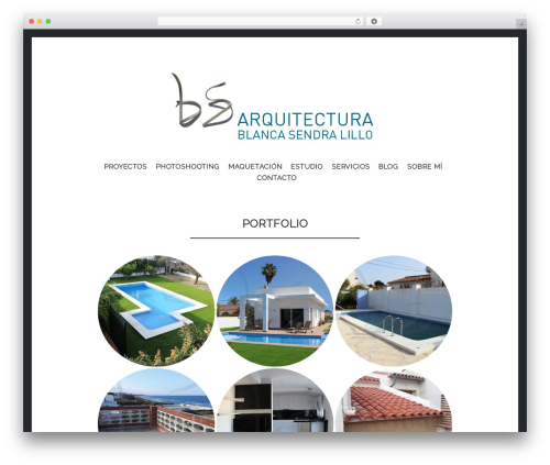 Illustratr personal WordPress theme - bsarquitectura.es