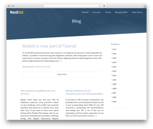 picolight best WordPress template - blog.restlet.com