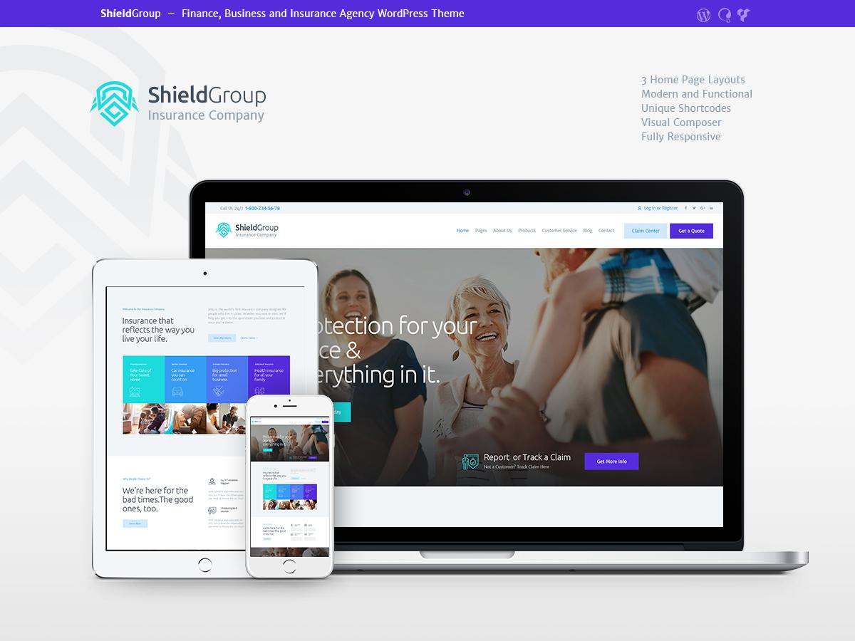 ShieldGroup WordPress blog template