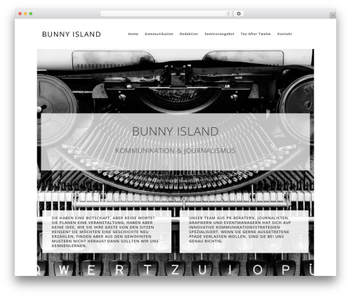 Theme WordPress WP Suarez - bunny-island.com