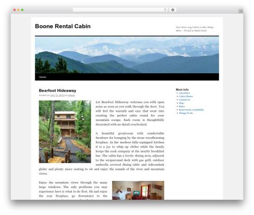 Twenty Ten template WordPress free - boonerentalcabin.com