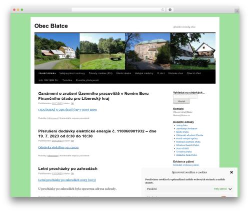 Twenty Ten theme WordPress - blatce.cz