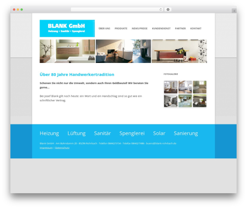 Twenty Twelve WordPress theme - blank-rohrbach.de