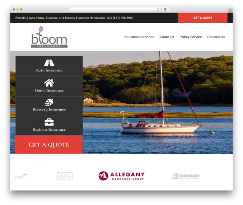 WordPress theme BrightFire Stellar - bloomny.com