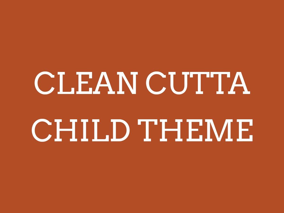 WordPress theme Clean Cutta Child Theme