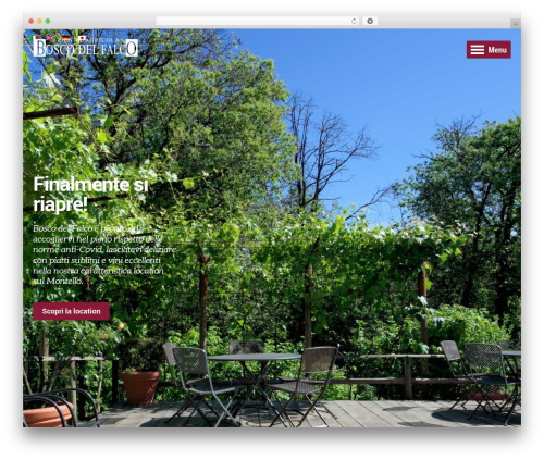 WordPress website template Kodax - boscodelfalco.it