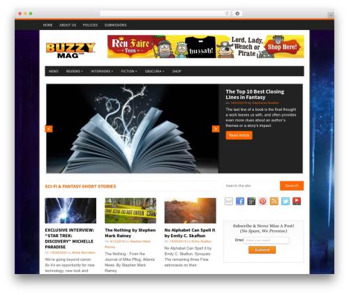 WordPress website template NewsMag by MyThemeShop - buzzymag.com