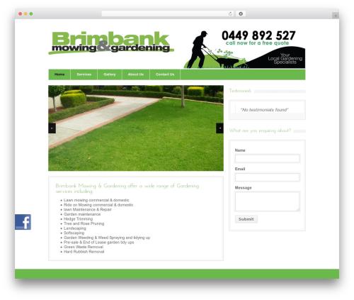 Bangkok Press landscaping WordPress theme - brimbankmowing.com.au