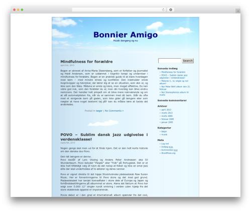 BlueSky WordPress theme - bonnieramigo.dk