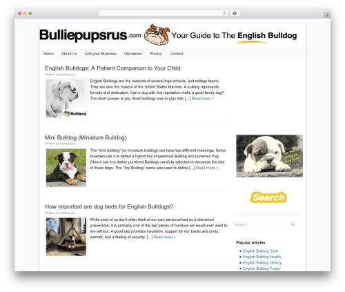 Catalyst WordPress theme - bulliepupsrus.com