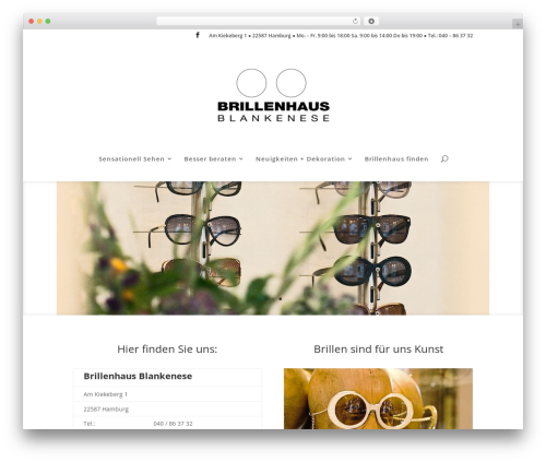 Divi WordPress theme - brillenhaus-blankenese.de