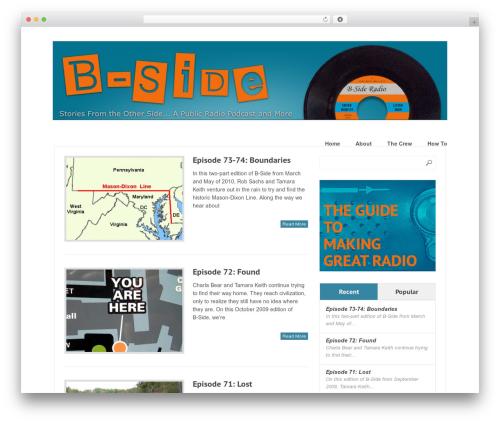 Great free WordPress theme - bsideradio.org