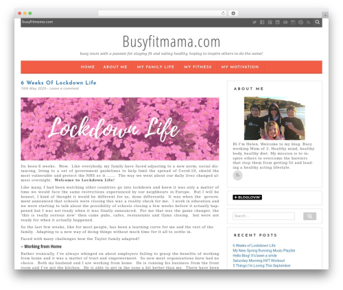 Kerli lite best free WordPress theme - busyfitmama.com