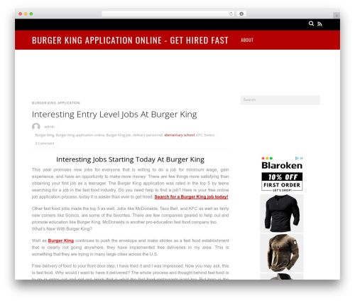 Magazine WordPress news template - burgerkingapplicationonline.net
