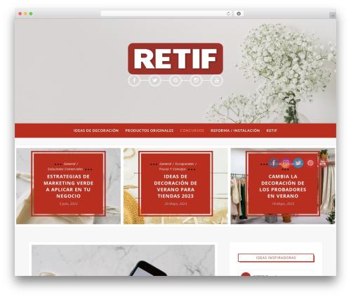 Maple WordPress blog template - blog.retif.es