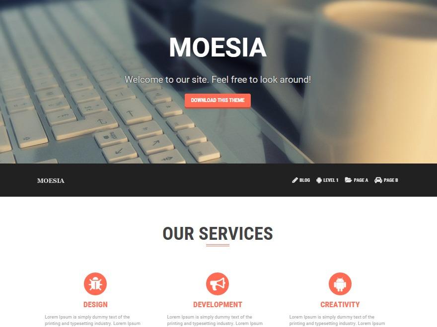 Moesia Child Theme best WordPress template