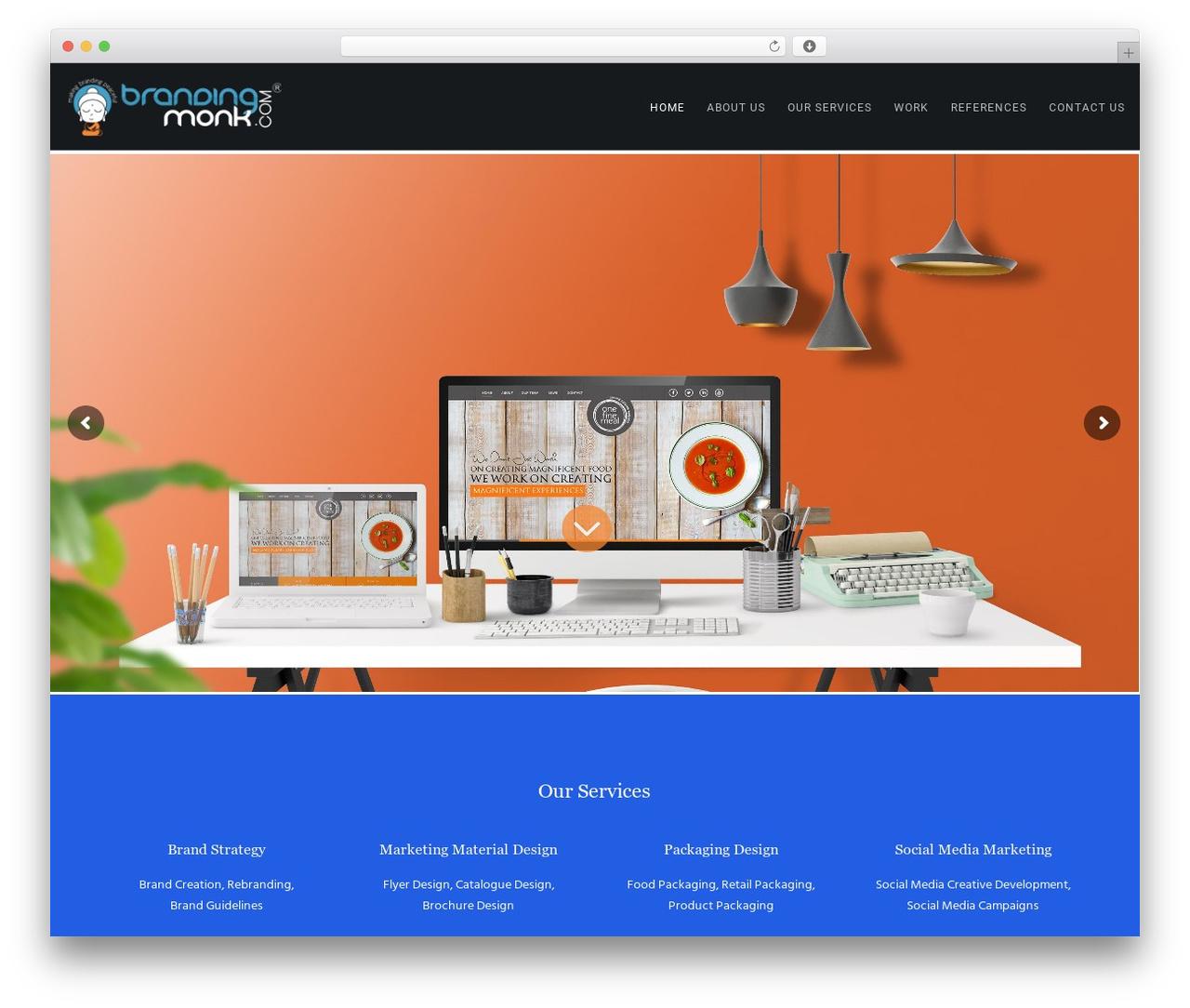 Movedo company WordPress theme - brandingmonk.com