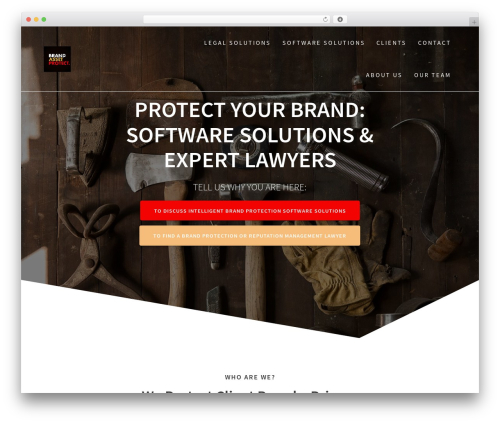 One Page Express WordPress template for business - brandassetprotect.com