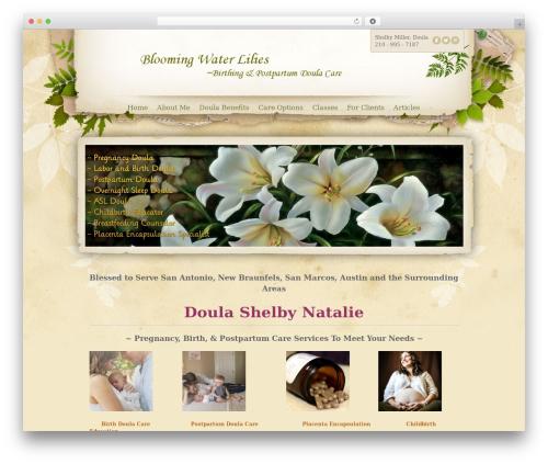 WordPress si-contact-form plugin - bloomingwaterlilies.com