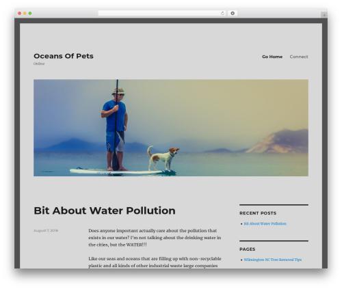 Twenty Sixteen WordPress template free - oceansofpets.com