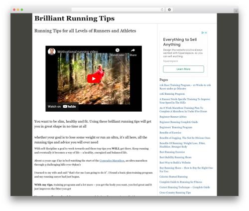 WordPress theme Thesis - brilliant-running-tips.com