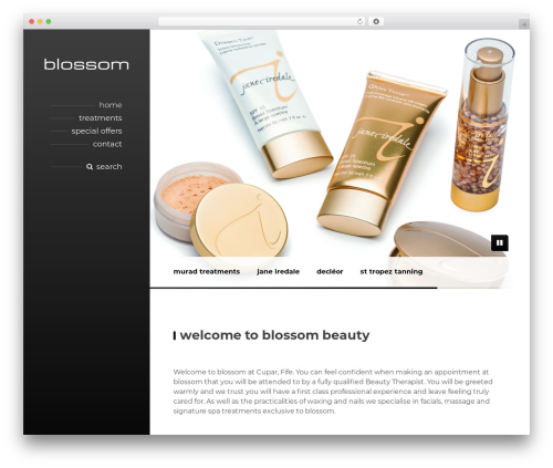 BeautySpot WordPress theme - blossombeauty.co.uk