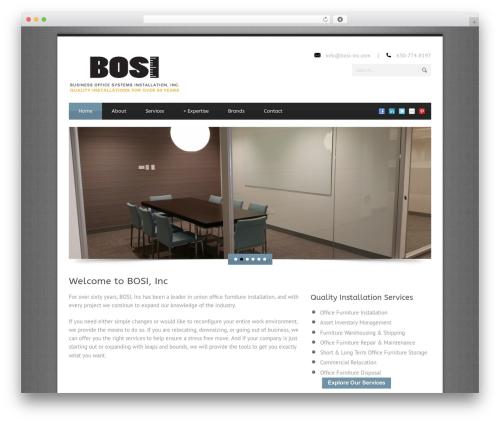Blue Diamond WordPress template - bosi-inc.com