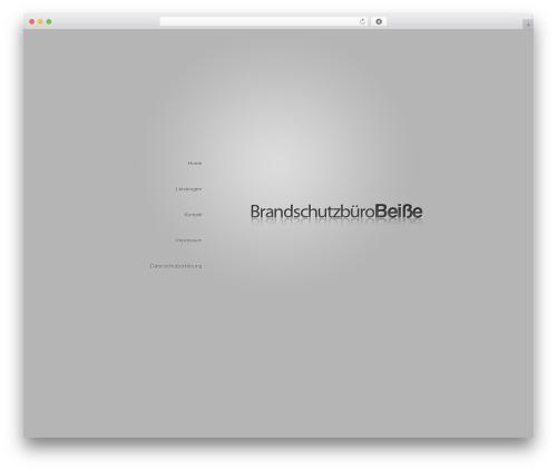 BusinessCard company WordPress theme - brandschutzkonzepte.com