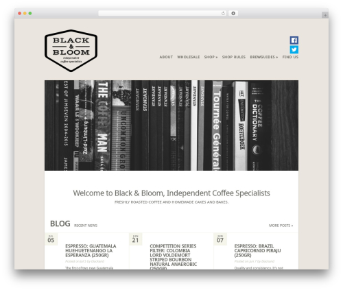 Flexible WordPress theme - blackandbloom.nl